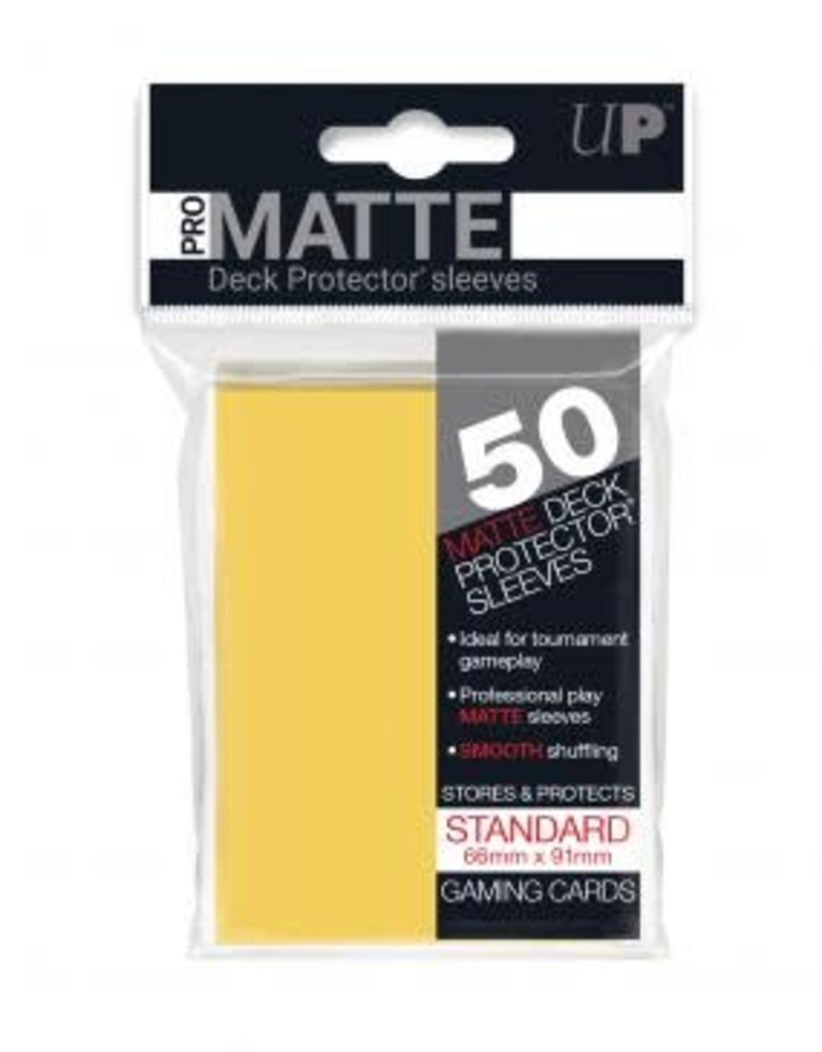 Ultra PRO 50ct Pro Matte Yellow Sleeves
