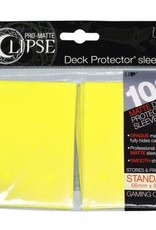 Ultra PRO PRO-Matte Eclipse Lemon Yellow 100ct Sleeves