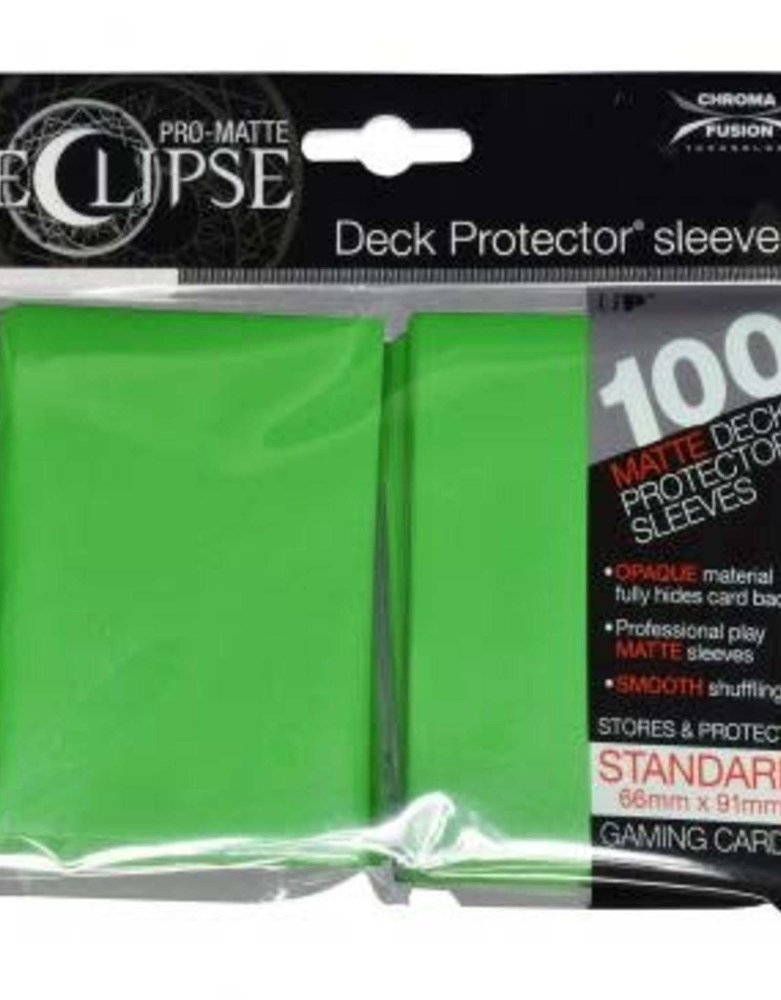 Ultra PRO PRO-Matte Eclipse Lime Green 100ct Sleeves