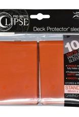 Ultra PRO PRO-Matte Eclipse Pumpkin Orange 100ct Sleeves