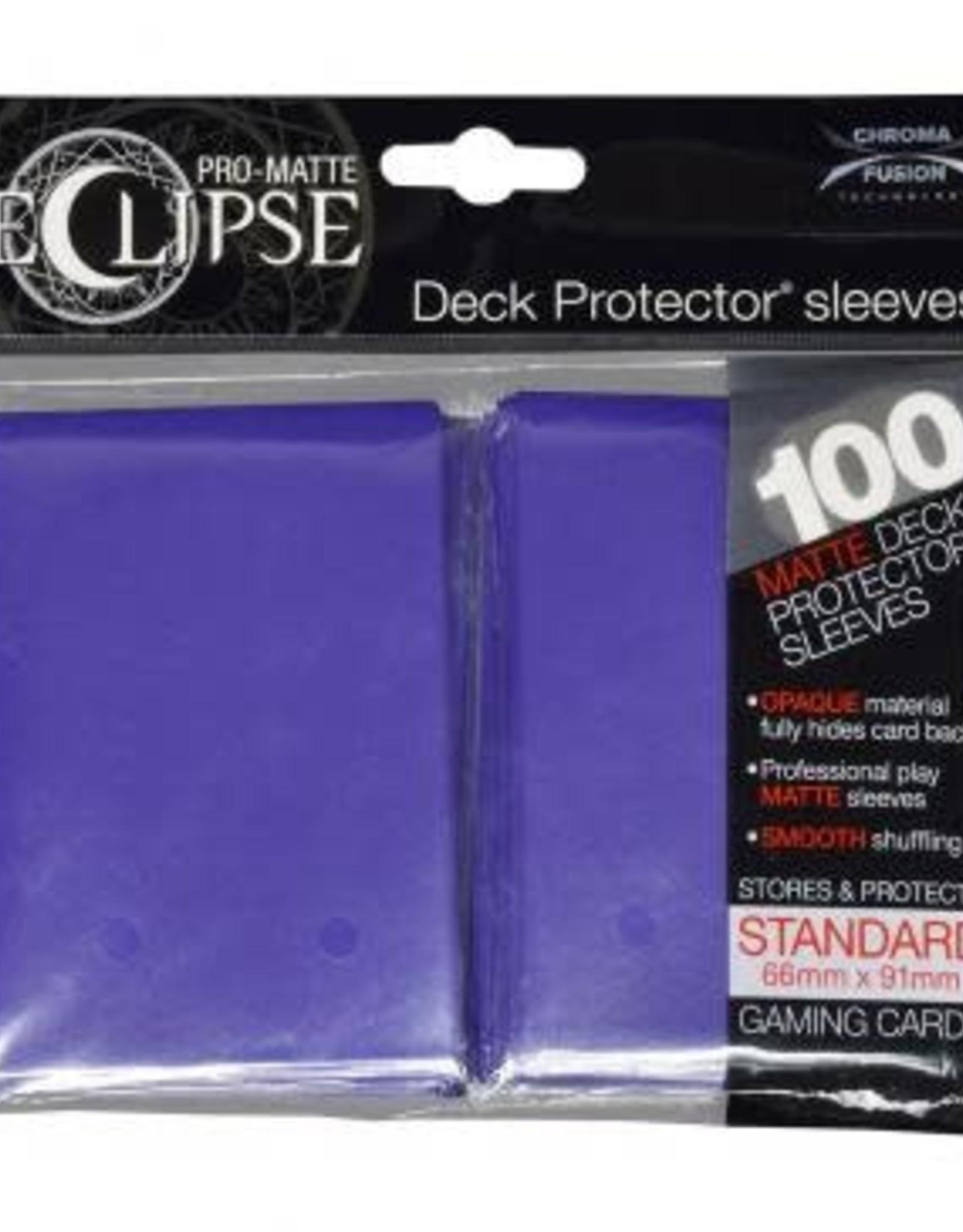 Ultra PRO PRO-Matte Eclipse Royal Purple 100ct Sleeves