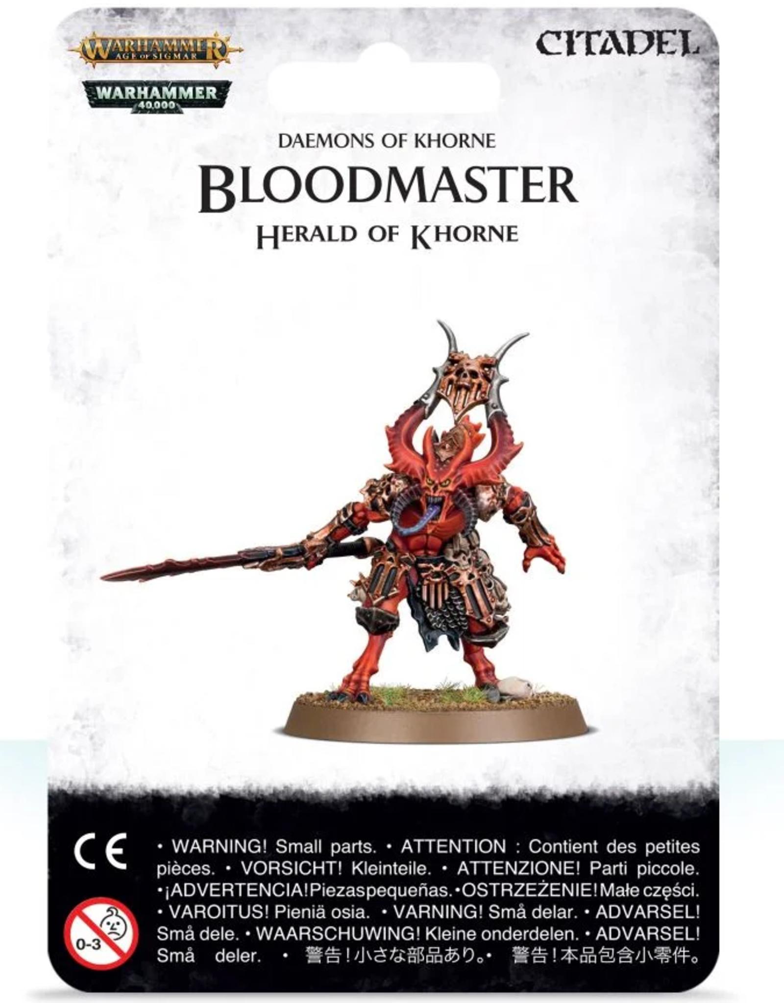 Games Workshop Khorne: Bloodmaster Herald of Khorne