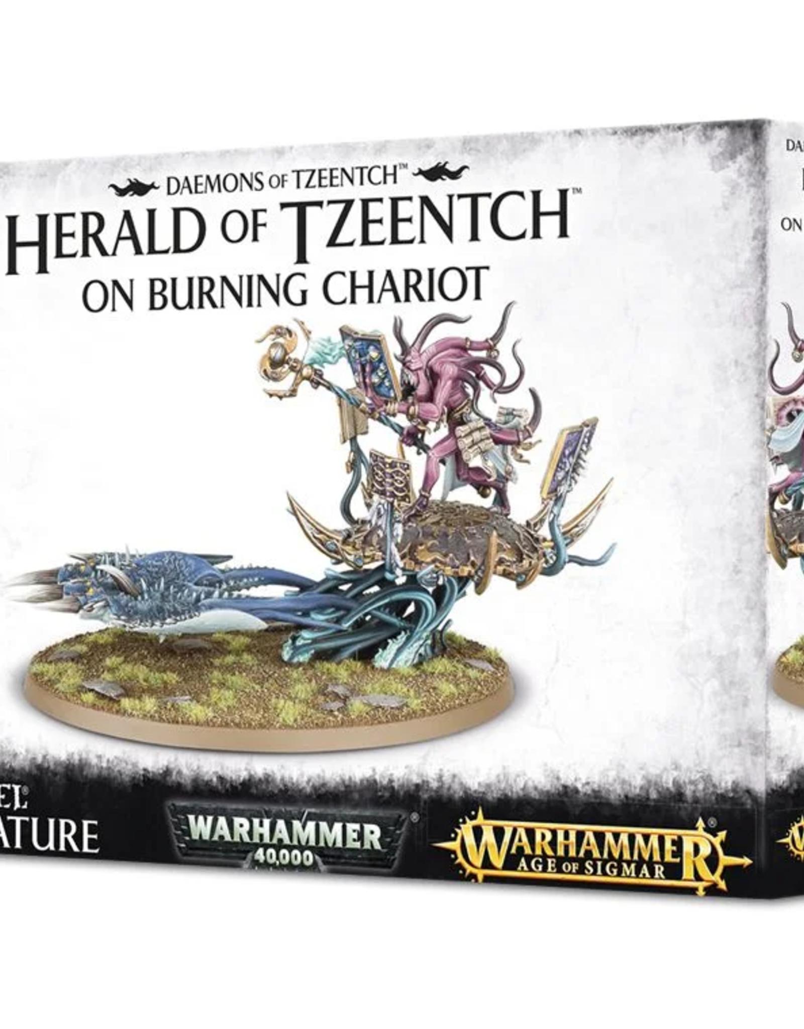 Games Workshop Tzeentch: Herald on Burning Chariot