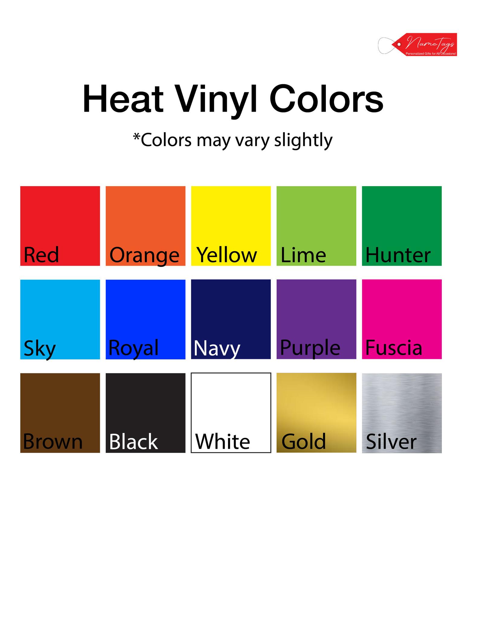 Heat Vinyl Colors