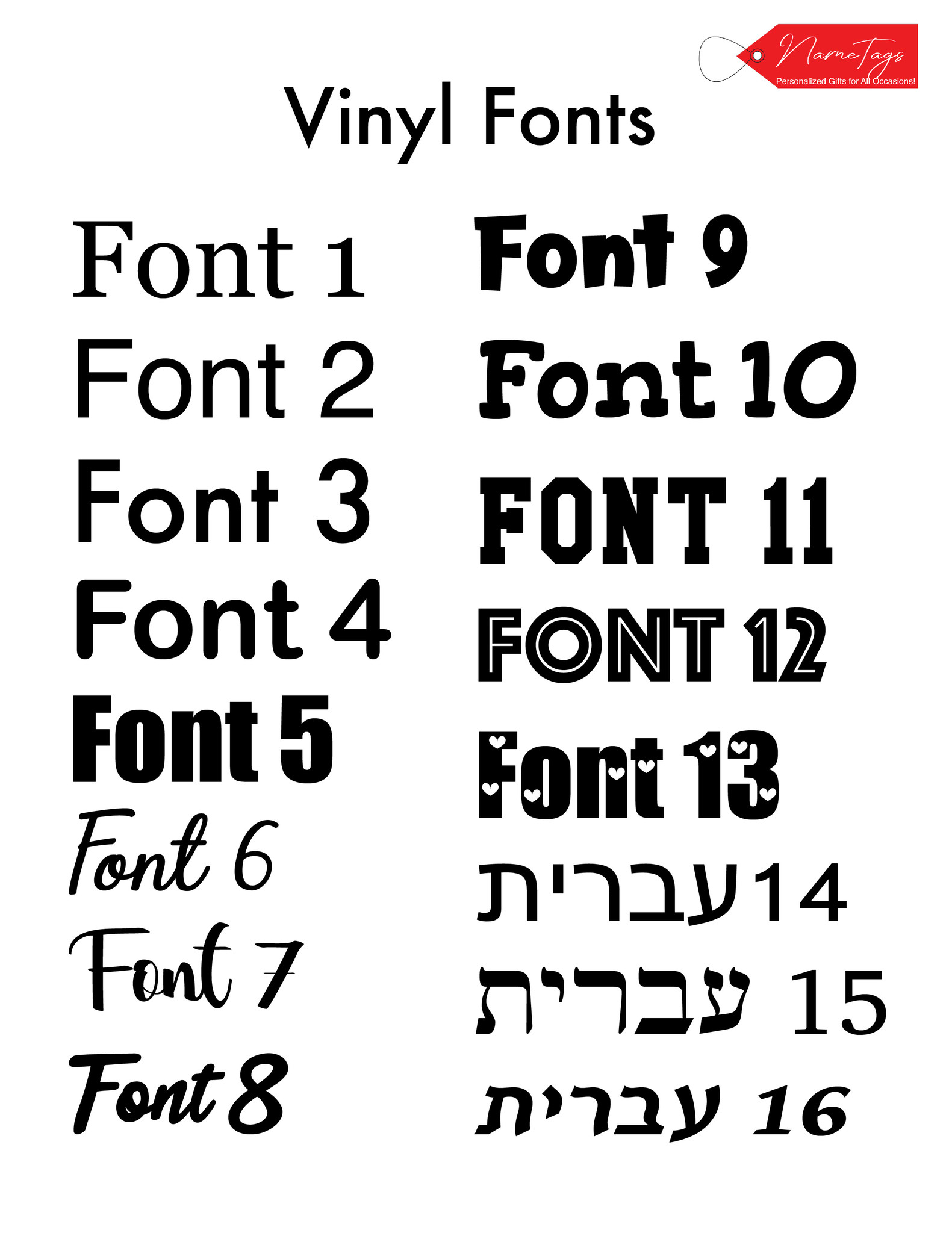 Vinyl Fonts