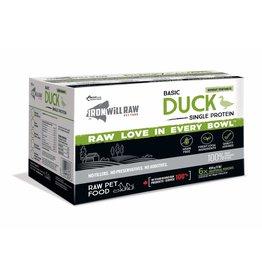 IRON WILL RAW BASIC DUCK 6LB BOX (6 x 1LB)