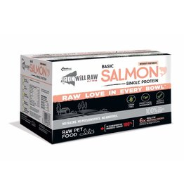 IRON WILL RAW BASIC SALMON 6LB BOX (6 x 1LB)