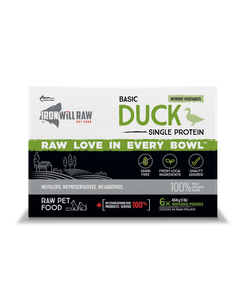 IRON WILL RAW BASIC DUCK 6LB BOX (6 x 1LB)