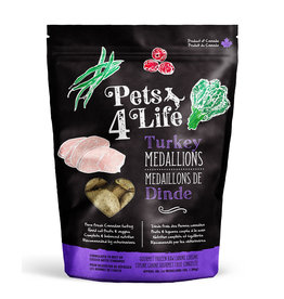 PETS4LIFE CANINE TURKEY MEDALLIONS 3LB (48 x 1OZ)