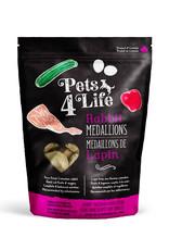 PETS4LIFE CANINE RABBIT MEDALLIONS 3LB (48 x 1OZ)