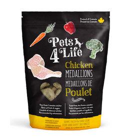 PETS4LIFE CANINE CHICKEN MEDALLIONS 3LB (48 x 1OZ)