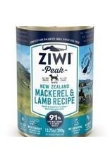 ZIWI PEAK CANNED MACKEREL & LAMB DOG 13.75OZ