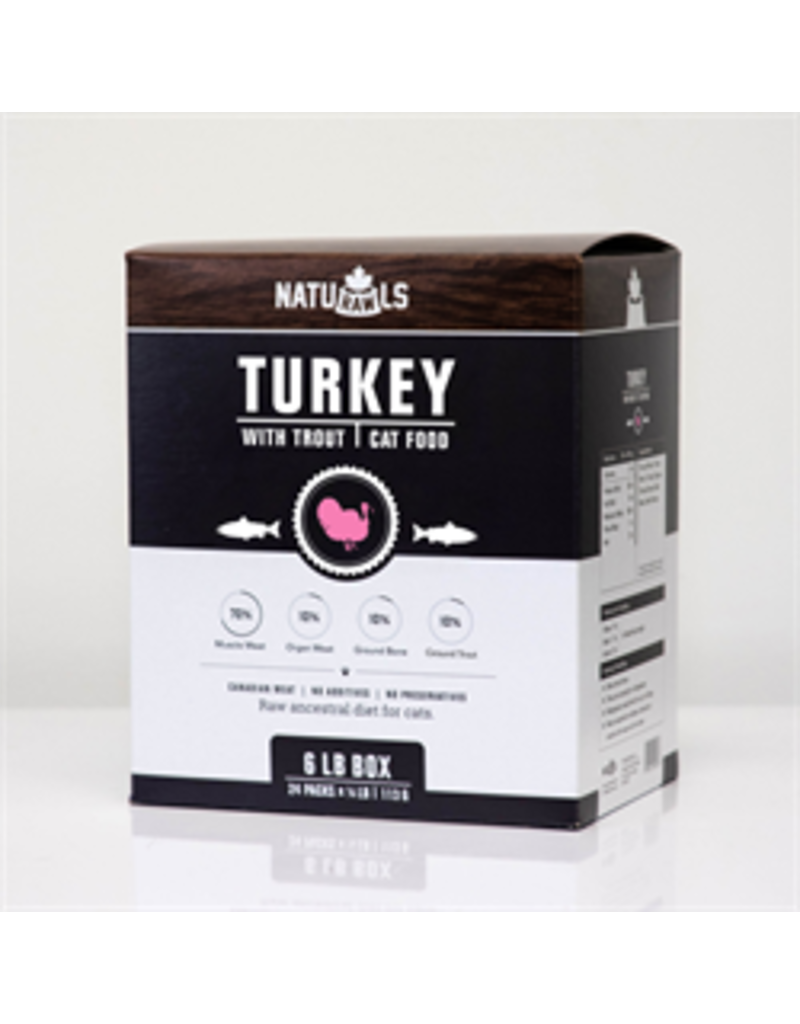 NATURAWLS FELINE TURKEY & TROUT 6LB (24 x 4OZ)