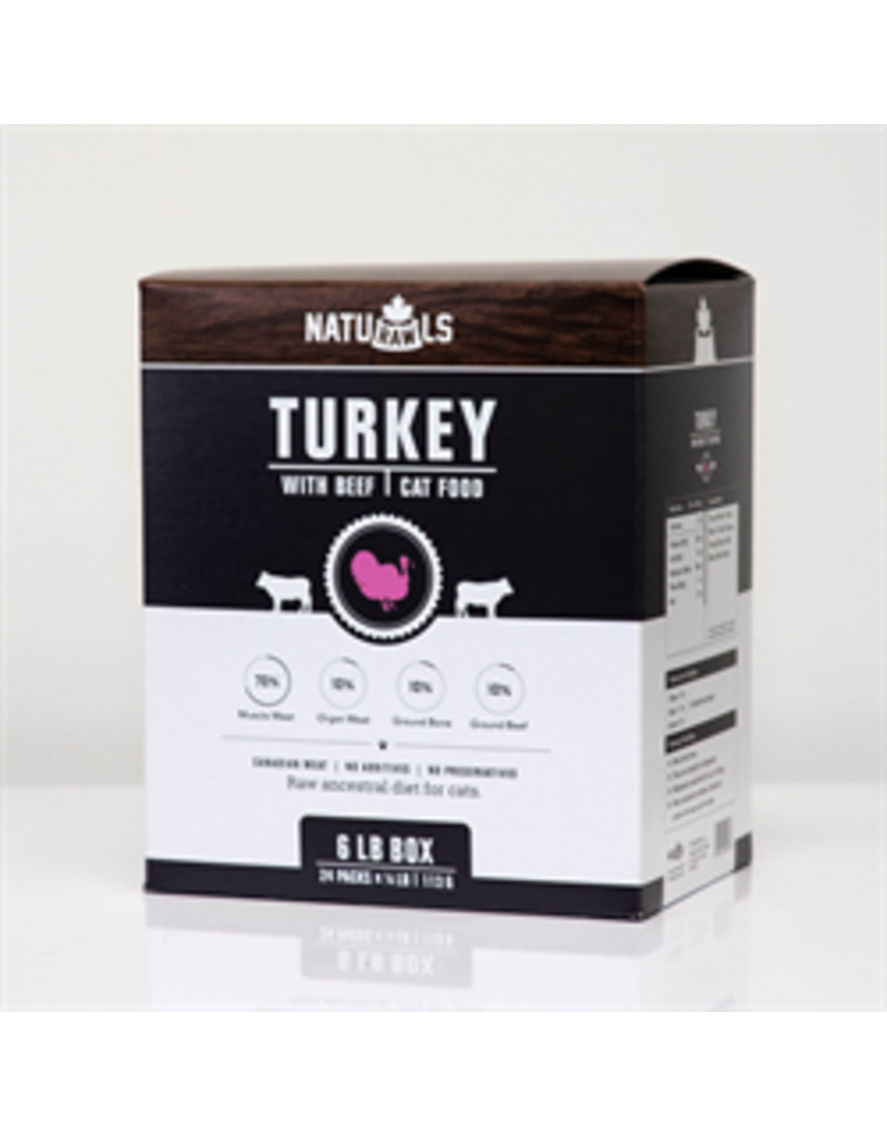 NATURAWLS FELINE TURKEY & BEEF 6LB (24 x 4OZ)
