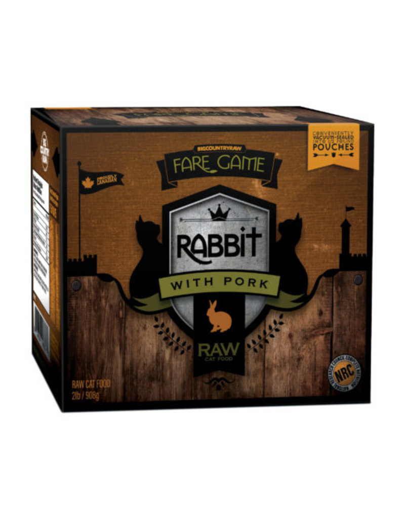 BIG COUNTRY RAW FARE GAME RABBIT w/ PORK 2LB (4 x 8OZ)