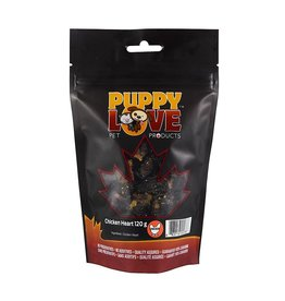 PUPPY LOVE CHICKEN HEARTS 120G
