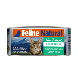 FELINE NATURAL LAMB FEAST 6OZ CAN