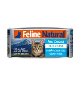 FELINE NATURAL BEEF FEAST 6OZ CAN