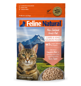 FELINE NATURAL LAMB & KING SALMON FREEZE DRIED 320G