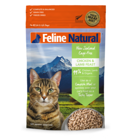 FELINE NATURAL CHICKEN & LAMB FREEZE DRIED 320G