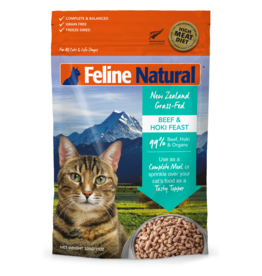 FELINE NATURAL BEEF & HOKI FEEZE DRIED 320G