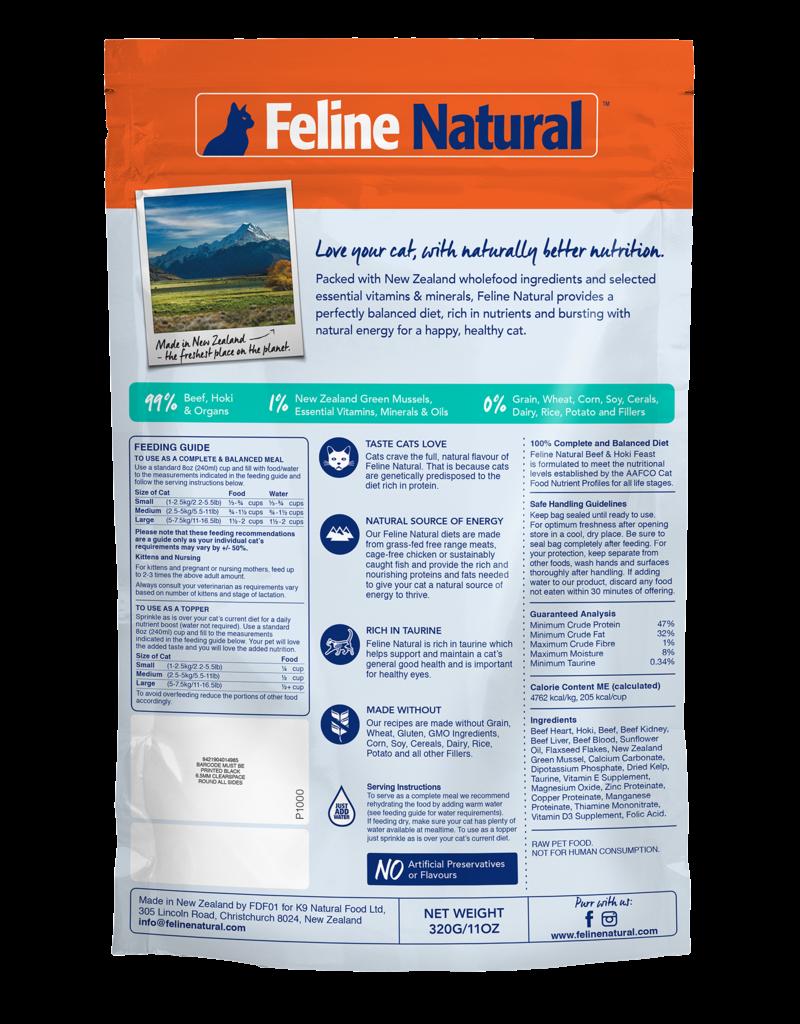 FELINE NATURAL BEEF & HOKI FEEZE DRIED 320G