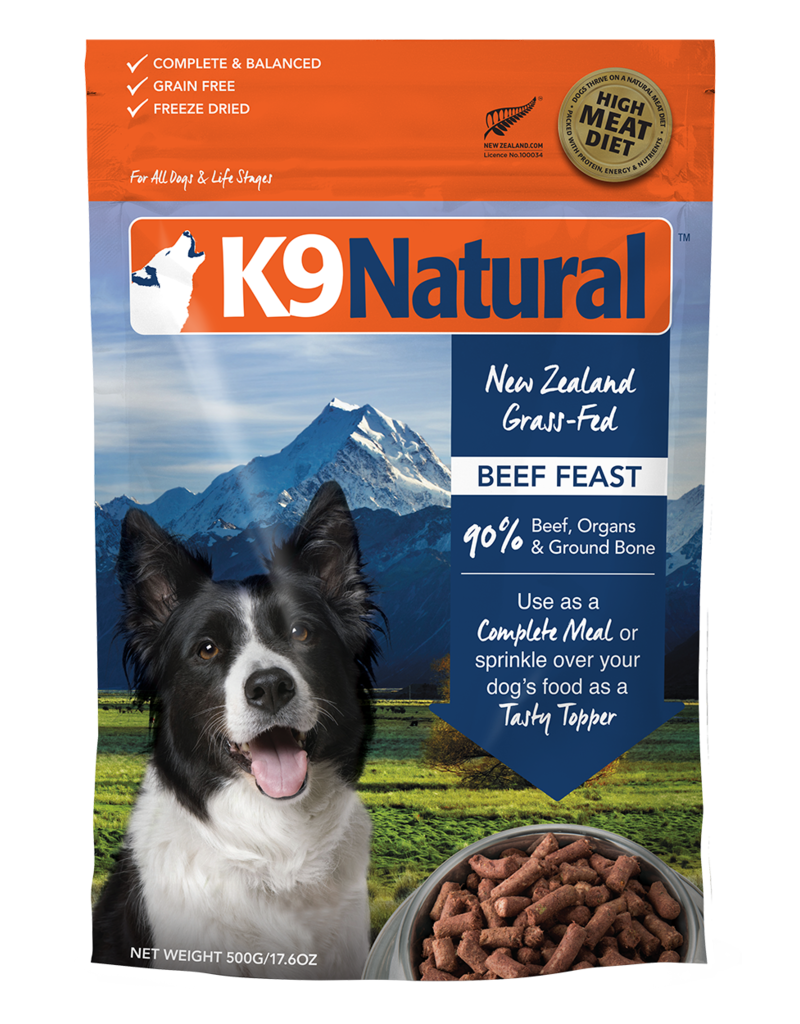 K9 NATURAL BEEF FEAST 500G