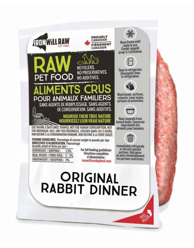 IRON WILL RAW ORIGINAL RABBIT 6LB BOX (6 x 1LB)