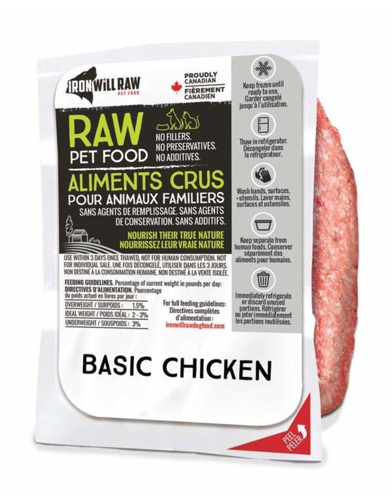 IRON WILL RAW BASIC CHICKEN 6LB BOX (6 x 1LB)