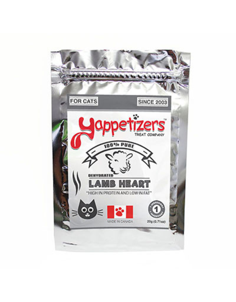 YAPPETIZERS CAT LAMB HEART 40G