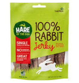 HARE OF THE DOG RABBIT JERKY TREATS 3.5OZ