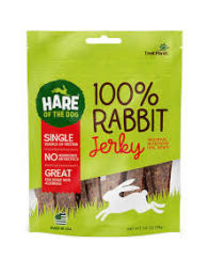 HARE OF THE DOG RABBIT JERKY TREATS 3.5OZ