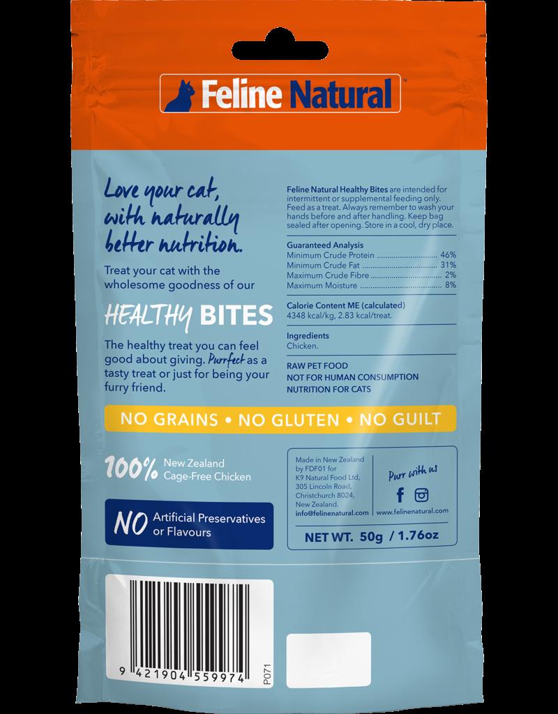 FELINE NATURAL HEALTHY CAT CHICKEN BITES 50G