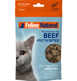 FELINE NATURAL HEALTHY CAT BEEF BITES 50G