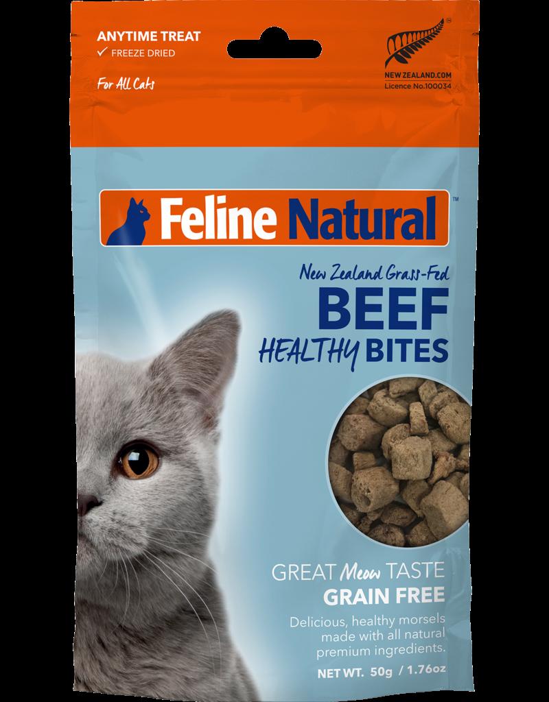 FELINE NATURAL HEALTHY CAT BEEF BITES 50G