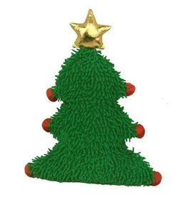 PETLOU HOLIDAY TREE GREEN W/ GOLD STARS 9""