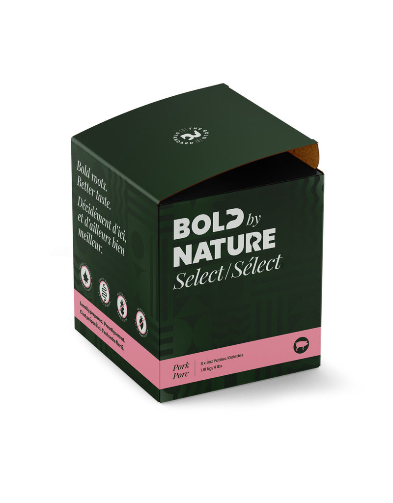 BOLD BY NATURE SELECT PORK 4LB PATTIES 8X8OZ