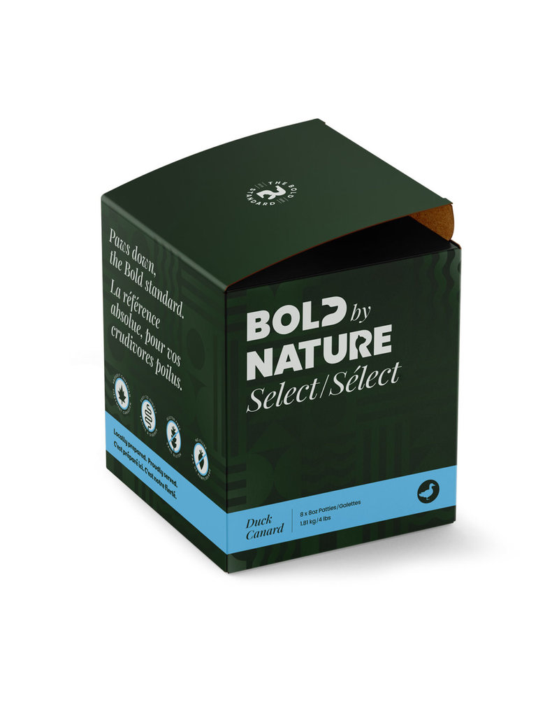 BOLD BY NATURE SELECT DUCK 4LB PATTIES 8X8OZ