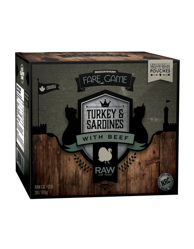 BIG COUNTRY RAW FARE GAME TURKEY & SARDINES WITH BEEF