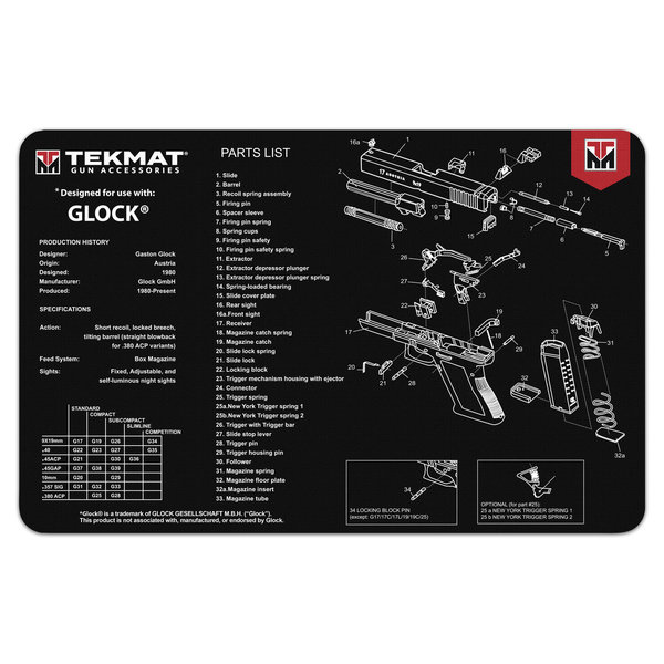 TekMat Gun Cleaning Mat, Glock