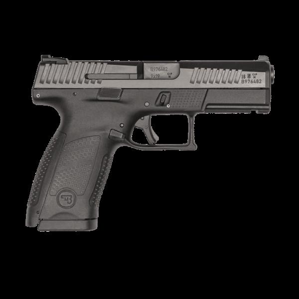 """CZ Model P-10 C Semi-Auto Pistol, 9MM, Black, 10 Rnd, CHF 4.6"""" Bbl, Suppressor Ready, High Metal Night Sights"""