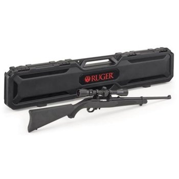 "Ruger 10/22 Semi-Auto Rifle, 22LR, 18.5"" Barrel, Satin Black, Weaver 3-9x40 Scope, with Ruger Branded Hard Case"