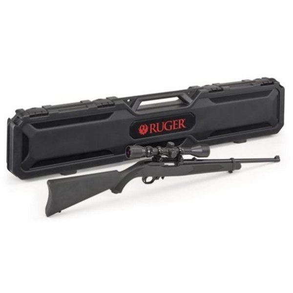 "Ruger 10/22 Semi-Auto Rifle 22LR 18.5"" Barrel Satin Black, w/Weaver 3-9x40 Scope and Ruger Branded Hard Case"