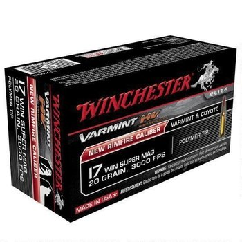 Winchester Varmint High Velocity Ammo 17 WSM 20gr 50 Rounds