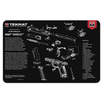 TekMat Pistol Mat, S&W M&P Shield Black