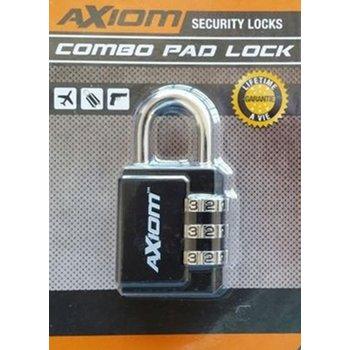 30 MM 3 Dial Hard Shackle Luggage Lock, Black