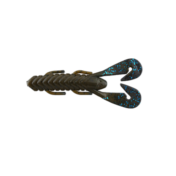 "Gambler 4"" Burner Craw. Green Pumpkin Black Blue Glitter Tail. 7-pk"