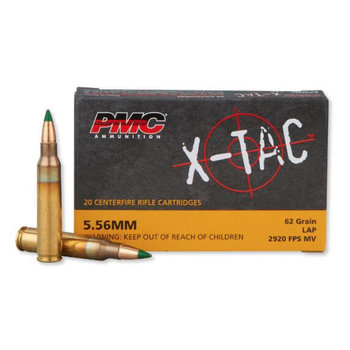 PMC X-Tac Ammo 5.56 NATO 62gr  Green Tip Full Metal Jacket 20 Rounds