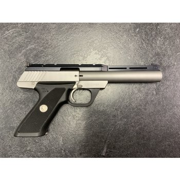 "Colt Target Model 22 LR 6"" Stainless Semi Auto Pistol w/Original Box"