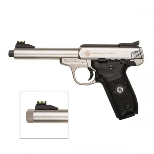 "Smith & Wesson Model SW22 Victory Pistol 22 LR Threaded BBL 5.5"" S/S 10 Rnd"